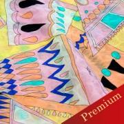PAROLARI EMILIO PUCCIエミリオプッチ薄手サッカー生地幾何学模様ピンク×グレー/Sucker Cotton100% geometry Yellow×Pink