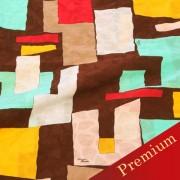 PAROLARI EMILIO PUCCIエミリオプッチ薄手サッカー生地幾何学模様ブラウン×ブルー×ピンク/Sucker Cotton100% geometry Brown×Blue×Pink