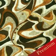 PAROLARI EMILIO PUCCIエミリオプッチ薄手サッカー生地幾何学模様ブラウン×ベージュ×ブラック/Sucker Cotton100% geometry brown×beige×black