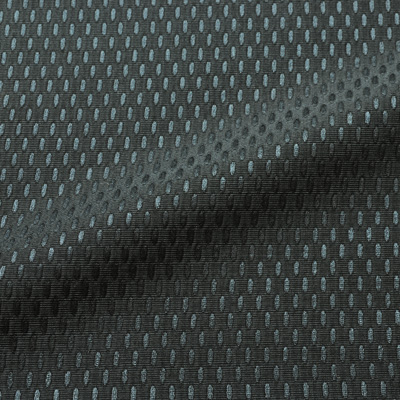 MON TRESOR ネイビー シルク混オーバルドット(9103-17)<br />Navy Silk Blend Fabric Oval Dots