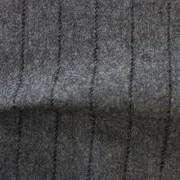 先染フラノ ストライプ  グレー(76254-1)Gray Stripe, Yarn Dyed Twill Fabric