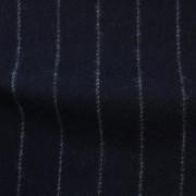 先染フラノ ストライプ  ネイビー(76254-2)Navy Stripe, Yarn Dyed Twill Fabric