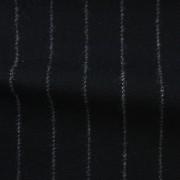先染フラノ ストライプ  ブラック(76254-3)Black Stripe, Yarn Dyed Twill Fabric