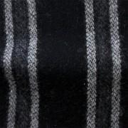 先染フラノ ドビー・ストライプ  黒・グレー(76269-3)Black/Gray Stripe, Yarn Dyed Twill Fabric