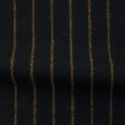 ウールストライプストレッチ ブラック・ブラウンストライプ(76278-3)Wool Stretch Twill, Black with Brown Stripes
