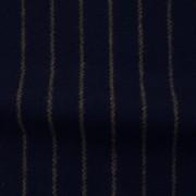ウールストライプストレッチ ダークネイビー・ストライプ(76278-5)Wool Stretch Twill, Dark Navy with Olive Stripes