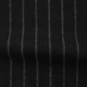 ウールストライプストレッチ ブラック・グレーストライプ(76278-6)Wool Stretch Twill, Black with Gray Stripes