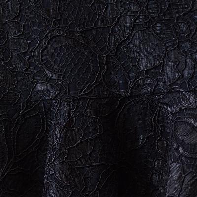 両耳スカララッセルレース デシンボンディング加工 (KBD8468) Black & Black Bonded Lace