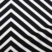 スムースストレッチニット 黒・白ストライプ(KKP3399-D#158B)Black&White Smooth Stretch Knit, Stripes