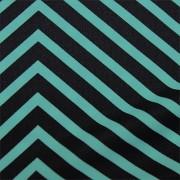 スムースストレッチニット 黒・ブルーストライプ(KKP3399-D#158J)Black&Blue Smooth Stretch Knit, Stripes