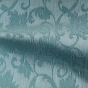 フローラル柄のストレッチ ジャカート ブルー(KKF7312-4917-170) Stretch Jacquard Fabric, Antique Blue Floral