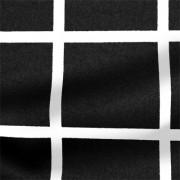 ストレッチサテンビンテージ ブラック・ホワイト ウインドウーペン(KKP1908SY-D#SB-57C)Black&White Stretch Satin, Window Pane Print
