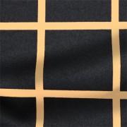 ストレッチサテンビンテージ ブラック・ピンクベージュ ウインドウーペン(KKP1908SY-D#SB-57K)Black&Pink-Beige Stretch Satin, Window Pane Print