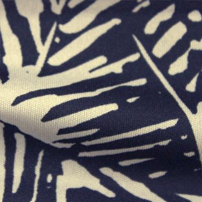 スムースストレッチニット ベージュ・ネイビーの抽象柄 (KKP3398-YS-28-C)Beige&Navy Abstract Print, Smooth Stretch Knit