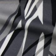 スムースストレッチニット ブラック・グレー・ホワイトの抽象柄 (KKP3398-34-C)Black, Gray, White Abstract Print, Smooth Stretch Knit