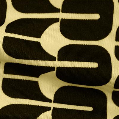 スムースストレッチニット ベージュ・ブラック幾何柄 (KKP3398-35-C)Beige&Black Geometric Print, Smooth Stretch Knit