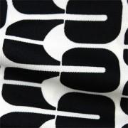 スムースストレッチニット ブラック・ホワイト幾何柄 (KKP3398-35-B)Black&White Geometric Print, Smooth Stretch Knit