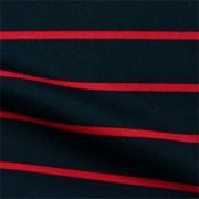 スムースストレッチニット ブラック・レッドストライプ(KKP3399-71-16)Black&Red Smooth Stretch Knit, Stripes