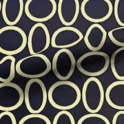 スムースストレッチニット ネイビー・ベージュリング(KKP3399-D#39C)Navy&Beige Smooth Stretch Knit, Geometric Print