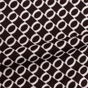 スムースストレッチニット ブラウン・ベージュリング(KKP3399-D#40C)Brown&Beige Smooth Stretch Knit, Geometric Print