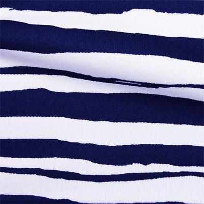 スムースストレッチニット ホワイト・ネイビーストライプ(KKP3399-D#54A)White&Navy Smooth Stretch Knit, Stripes