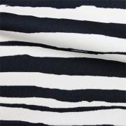 スムースストレッチニット ブラック・ホワイトストライプ(KKP3399-D#54B)Black&White Smooth Stretch Knit, Stripes
