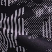 ハイテンションストレッチニット ダークグレー・グレー幾何柄(KKF5200-28-GY) High Tension Stretch Knit, Dark Gray and Gray Geometric Print