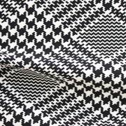 ハイテンションストレッチニット ブラック・ホワイト千鳥格子柄(KKF5200-3-B) High Tension Stretch Knit, Black and White Houndstooth Pattern