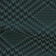 ハイテンションストレッチニット ブラック・ブルーグレー千鳥格子柄(KKF5200-3-N) High Tension Stretch Knit, Black and Blue-Gray Houndstooth Pattern