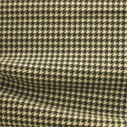 ハイテンションストレッチニット ブラック・ベージュ千鳥格子柄(KKF5200-95-K) High Tension Stretch Knit, Black and Beige Houndstooth