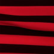 スムースストレッチニット ブラック・レッドストライプ(KKP3399-70-16)Black&Red Smooth Stretch Knit, Stripes