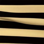 スムースストレッチニット ブラック・ベージュ(KKP3399-70-E)Black&Red Smooth Stretch Knit, Stripes