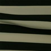 スムースストレッチニット ブラック・グレーストライプ(KKP3399-70-NV)Black&Gray Smooth Stretch Knit, Stripes
