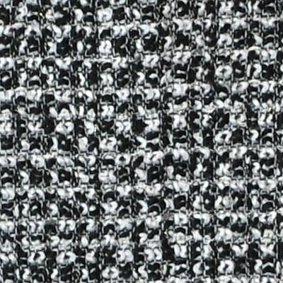 ラメ入りウールのツイード ブラックー・グレー・シルバーラメ (76202-5)Black & Gray Wool Tweed with Silver Lame