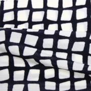 スムースストレッチニット ブラック・ホワイト幾何柄 (KKP2100-90-A)Black&White Geometric Print, Smooth Stretch Knit