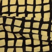 スムースストレッチニット ブラック・ベージュ幾何柄 (KKP2100-90-K)Black&Beige Geometric Print, Smooth Stretch Knit