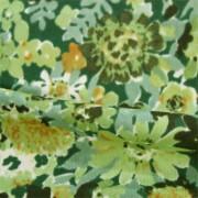 強撚スムースストレッチ 花柄プリント (KKP2999-61-A)Hard Twist Yarn Fabric, Flower Print