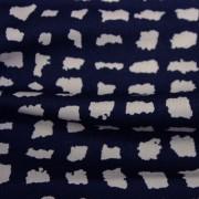 スムースストレッチニット ネイビー・ライトグレー幾何柄 (KKP3397-58-18-N)Navy&Light Gray Geometric Print, Smooth Stretch Knit