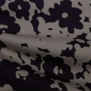 スムースストレッチニット ブラック・グレー抽象柄 プリント (KKP3397-58-37-GY) Black& Gray Abstract Print, Smooth Stretch Knit