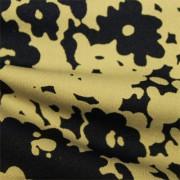 スムースストレッチニット ブラック・ベージュ抽象柄 プリント (KKP3397-58-37-K)Black&Beige Abstract Print, Smooth Stretch Knit