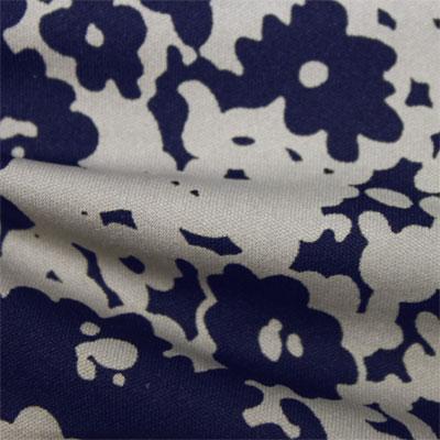 スムースストレッチニット ネイビー・ライトグレー抽象柄 プリント (KKP3397-58-37-N)Navy&Light Gray Abstract Print, Smooth Stretch Knit