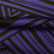 スムースストレッチニット ブルー・ブラック幾何柄プリント (KKP3399-87-BU)Black&Blue Geometric Print, Smooth Stretch Knit