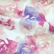 中肉ハイテンションニット多色花柄プリント (KKP5301-44-M22-C)Thick High Tension Knit, multi Color Floral Print