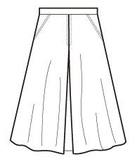 フレアースカートB(ボックスセンター)(DK-12) / Flare Skirt Type B (center pleat)