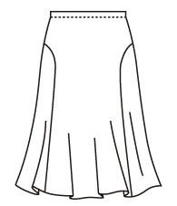 フレアースカートA (DK-10) Flare Skirt Type A
