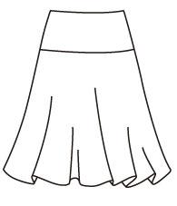 フレアースカートF (DK-17) Flare Skirt Type F