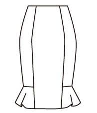 サイドフレアスカート(DK-9) / Side Flare Skirt