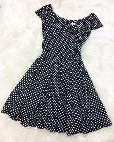 一枚でコーデが決まる!愛らしいドット柄ワンピース<br />One Outfit To Determine Your Style! Adorable Polka Dot Dress