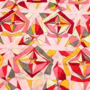 PAROLARI EMILIO PUCCIエミリオプッチ薄手サッカー生地幾何学模様ピンク×イエロー×グレー/100% Cotton Seersucker, Geometric Print, Pink ×Yellow×Gray