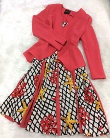 明るい色を着る自信のある大人女性♡綺麗なコーラル色のワンピースとジャケット<br /> Wearing Bright Colors with Confidence♡Gorgeous Coral Jacket and Dress Combination